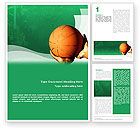 Sports: Throw Basketball Word Template #01803