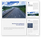 Cars/Transportation: Highway In Twilight Word Template #01811