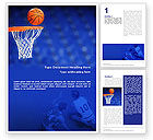 Sports: Basketball Match Word Template #01816