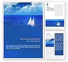 Nature & Environment: Sea Horizon Word Template #01823
