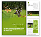 Agriculture and Animals: Plantilla de Word gratis - ciervo #01838