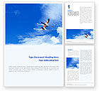 Nature & Environment: Flying Flamingo Word Template #01854