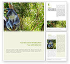 Agriculture and Animals: Koala Word Template #01867