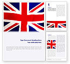 Flags/International: British Flag Word Template #01868