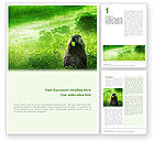 Agriculture and Animals: Groundhog Kostenlose Word Vorlage #01893