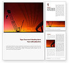 Construction: Road Building Word Template #01909