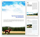 Sports: Cowboy Riding Word Template #01911