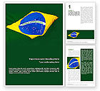 Flags/International: Brazilian Flag Word Template #01915
