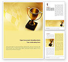 Sports: Winner Cup Word Template #01933