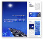 Technology, Science & Computers: Solar Panels Rising Up Power Word Template #01936