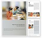 Education & Training: Children In Creation Word Template #01956