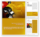 Sports: Boxing Training Word Template #01965