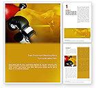 Sports: 워드 템플릿 - 권투 훈련 #01965