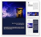 Nature & Environment: Nuclear Waste Word Template #01969