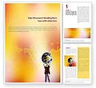 Education & Training: Earth In Young Pupil Hands Word Template #01975
