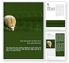 Agriculture and Animals: Plantilla de Word - oveja #01995