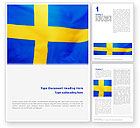 Flags/International: Swedish Flag Word Template #02026