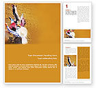 Sports: Rodeo On A Wild Mustang Word Template #02044
