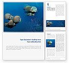 Nature & Environment: Fishing Life Underwater Word Template #02089