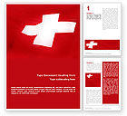 Flags/International: Flag of Switzerland Word Template #02090