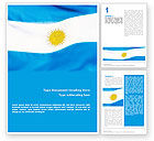 Flags/International: Flag of Argentine Republic Word Template #02123