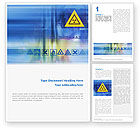 Utilities/Industrial: Radioactive Sign Word Template #02142