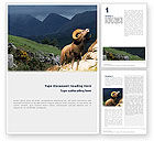 Agriculture and Animals: Mountain Word Template #02157