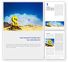 Financial/Accounting: Dollar In Desert Word Template #02172