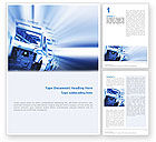 Utilities/Industrial: Plantilla de Word - fabricación de automóviles #02182