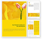 Holiday/Special Occasion: Tulip On A Yellow Word Template #02206