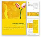 Holiday/Special Occasion: Plantilla de Word - tulipán en un amarillo #02206