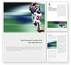 Sports: American Football Atlanta Falcons Word Template #02207