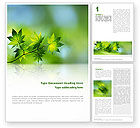 Nature & Environment: Flora Word Template #02215