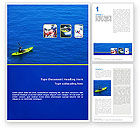 Sports: Kayaking Word Template #02239