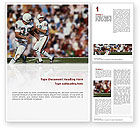 Sports: American Football Game Word Template #02252