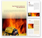 Careers/Industry: Fire Extinguishing Word Template #02265