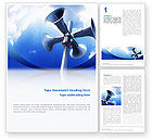 Business Concepts: Loudspeaker Word Template #02285