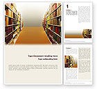 Education & Training: Library Book Shelves Word Template #02303