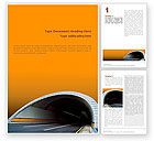 Construction: Tunnel On An Orange Background Word Template #02320
