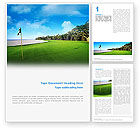 Sports: Golf Club Word Template #02334
