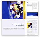 Education & Training: Children and World Word Template #02339