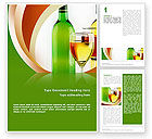 Food & Beverage: White Wine Tasting Word Template #02342