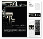 Utilities/Industrial: Pipes Word Template #02345