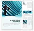Business: Career Climbing Word Template #02346