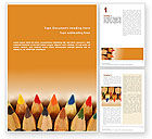 Business Concepts: Color Pencil Word Template #02353