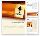 Business Concepts: Icon Women Word Template #02357