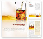 Food & Beverage: Ice Tea Word Template #02363