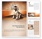 Technology, Science & Computers: Robot Dog Word Template #02381
