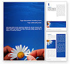 Holiday/Special Occasion: Camomile Word Template #02382