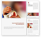 Medical: Denture Word Template #02385